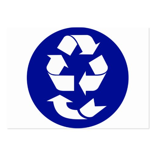Reduce Reuse Recycle Recover Symbol (4 Rs) Large Business Cards (Pack Of 100)