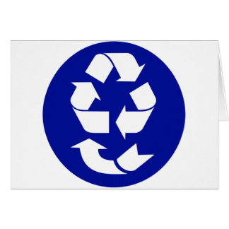 Reduce Reuse Recycle Recover Symbol (4 Rs) Greeting Card