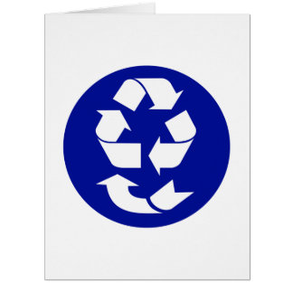 Reduce Reuse Recycle Recover Symbol (4 Rs) Large Greeting Card