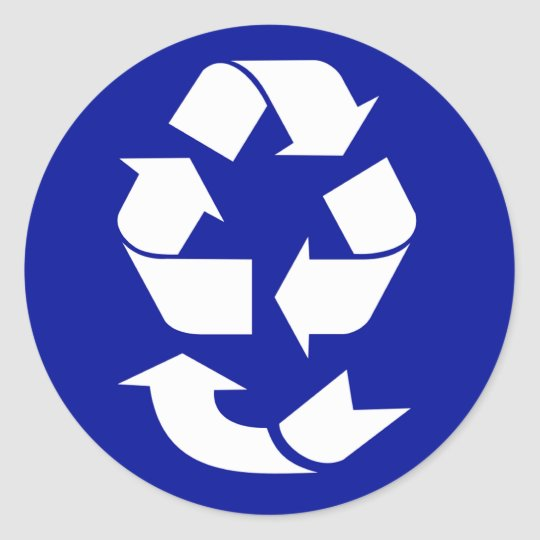 Reduce Reuse Recycle Recover Symbol (4 Rs) Classic Round Sticker