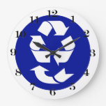 Reduce Reuse Recycle Recover Symbol (4 Rs) Wall Clock