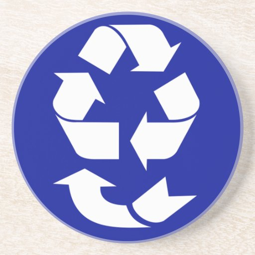 Reduce Reuse Recycle Recover Symbol (4 Rs) Drink Coasters