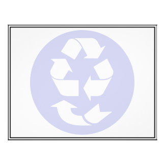 "Reduce Reuse Recycle Recover Symbol (4 Rs) 8.5"" X 11"" Flyer"