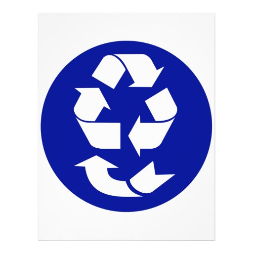 Reduce Reuse Recycle Recover Symbol (4 Rs) Flyers