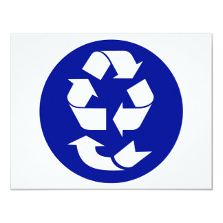 Reduce Reuse Recycle Recover Symbol (4 Rs) 4.25x5.5 Paper Invitation Card