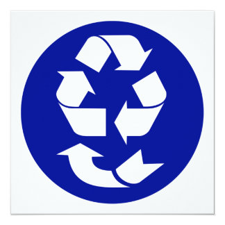 Reduce Reuse Recycle Recover Symbol (4 Rs) 5.25x5.25 Square Paper Invitation Card