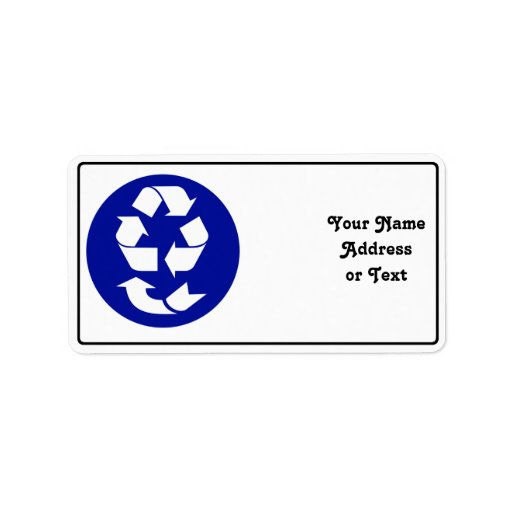 Reduce Reuse Recycle Recover Symbol (4 Rs) Personalized Address Label
