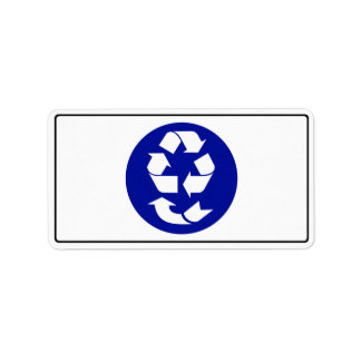 Reduce Reuse Recycle Recover Symbol (4 Rs) Address Label