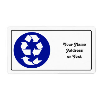Reduce Reuse Recycle Recover Symbol (4 Rs) Shipping Label