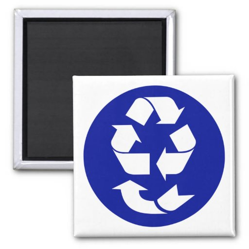 Reduce Reuse Recycle Recover Symbol (4 Rs) Fridge Magnet