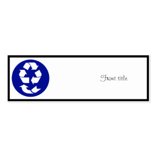 Reduce Reuse Recycle Recover Symbol (4 Rs) Mini Business Card