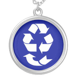 Reduce Reuse Recycle Recover Symbol (4 Rs) Necklace