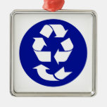 Reduce Reuse Recycle Recover Symbol (4 Rs) Christmas Tree Ornament