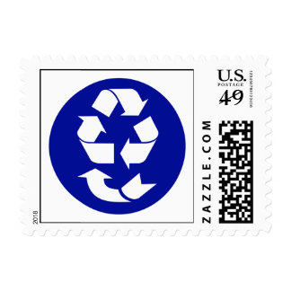 Reduce Reuse Recycle Recover Symbol (4 Rs) Postage Stamp