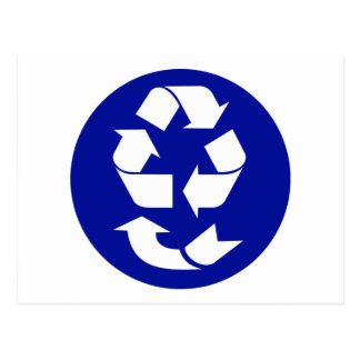 Reduce Reuse Recycle Recover Symbol (4 Rs) Postcard