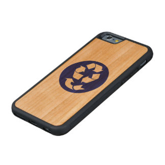 Reduce Reuse Recycle Recover Symbol (4 Rs) Carved® Cherry iPhone 6 Bumper Case