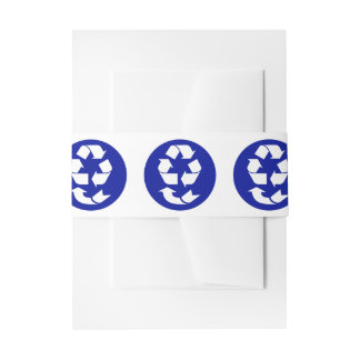 Reduce Reuse Recycle Recover Symbol (4 Rs) Invitation Belly Band