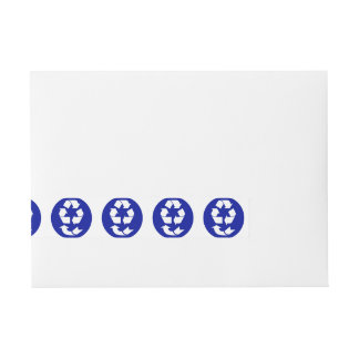 Reduce Reuse Recycle Recover Symbol (4 Rs) Wraparound Address Label