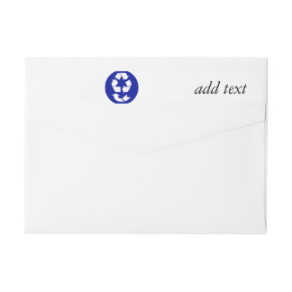 Reduce Reuse Recycle Recover Symbol (4 Rs) Wraparound Return Address Label