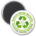 Reduce Reuse Recycle Refrigerator Magnets