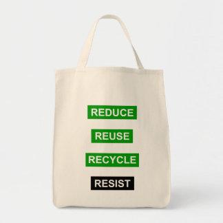 Reduce Reuse Recycle Resist Tote