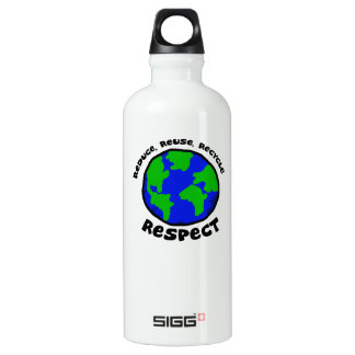 Reduce Reuse Recycle Respect Water Bottle