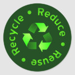 Reduce - Reuse - Recycle Sticker