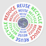 Reduce, Reuse, Recycle Stickers