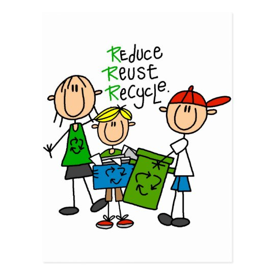 Reduce, Reuse, Recycle t-shirts and Gifts Postcard