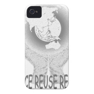 Reduce Reuse Recycle Tee.png iPhone 4 Case-Mate Case