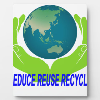 Reduce Reuse Recycle Tee ''.png Plaques