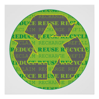 Reduce Reuse Recycle Today Poster