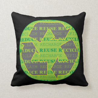 Reduce Reuse Recycle Today Throw Pillow