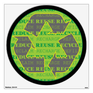 Reduce Reuse Recycle Today Wall Decal