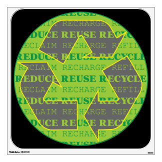 Reduce Reuse Recycle Today Wall Sticker