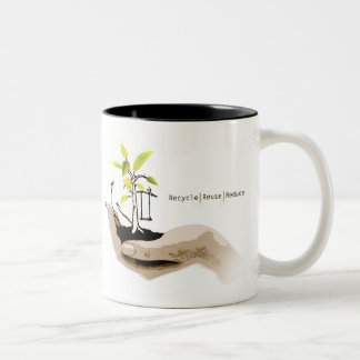 Reduce Reuse Recycle Two-Tone Coffee Mug