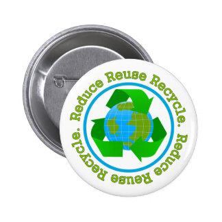 Reduce Reuse Recycle v2 2 Inch Round Button