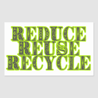 Reduce Reuse Recycle Vintage Recycling Design Rectangle Stickers