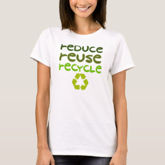 Reduce Reuse Recycle Womens Tank Top Shirt