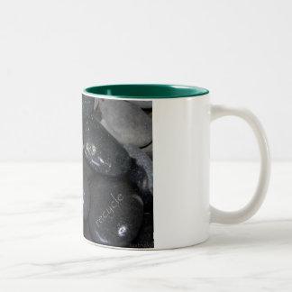 reduce reuse recyle rocks mug