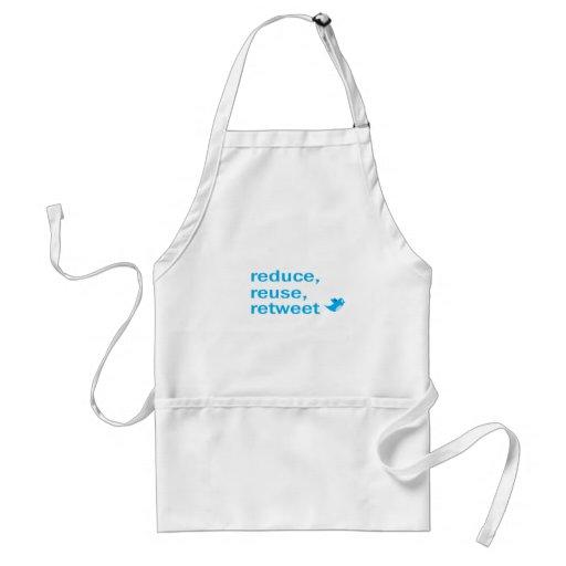reduce, reuse, retweet adult apron