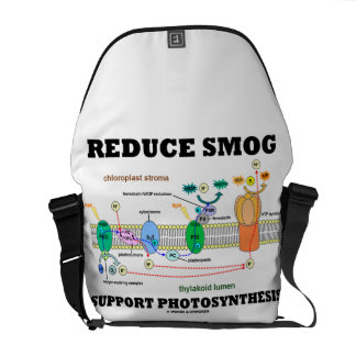 Reduce Smog Support Photosynthesis Messenger Bag