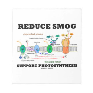 Reduce Smog Support Photosynthesis Memo Pads
