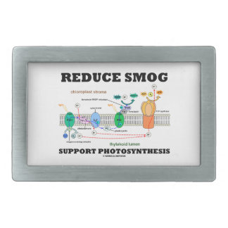 Reduce Smog Support Photosynthesis Rectangular Belt Buckle