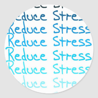 Reduce Stress Classic Round Sticker