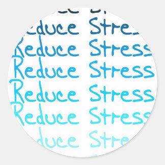 Reduce Stress Classic Round Sticker