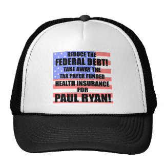 Reduce the Federal debt! Mesh Hats