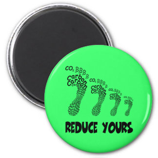Reduce your carbon footprint 2 inch round magnet