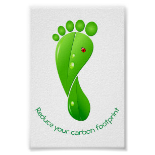 Carbon footprint posters photo prints zazzle reduce your carbon footprint green ecological poster maxwellsz