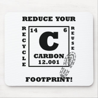 Reduce your carbon footprint! mouse pad